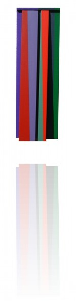Mobile-rouge-dominant---acrylique-sur-toile-marouflee-sur-bois---Paris-2006---38-x-12.5-x-3.5-cm