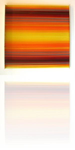 Vardanega, tiges bleu,projet,  45 x 45 cm , plexiglas 1973