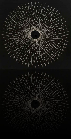 yvaral, Interférences, 1972, 62 x 62 cm