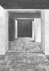 Hall A (miroir), 100x70 cm, 2014