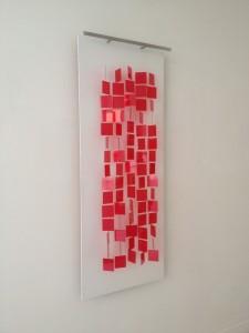 Julio Le Parc, Mobile rouge sur blanc, 1962