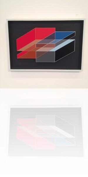 Octavio Herrera, Construction descriptive bronze bleu, 2007