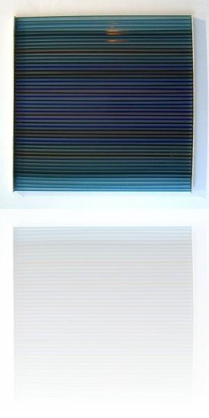 Vardanega, tiges orange, projet, 45 x 45 cm, plexiglas 1973
