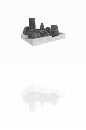 Massif 1, mine graphite sur papier, 2015
