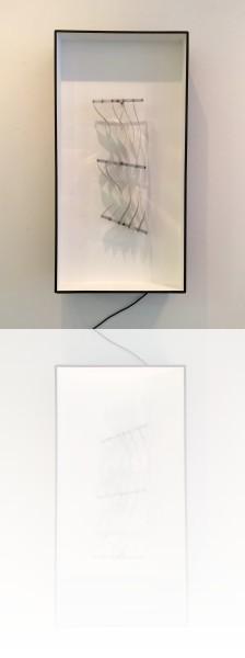 Julio Le Parc, Six formes en contorsions sur blanc, 102 x 52 x20 cm 1967