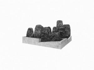 Massif 2, mine graphite sur papier, 2015